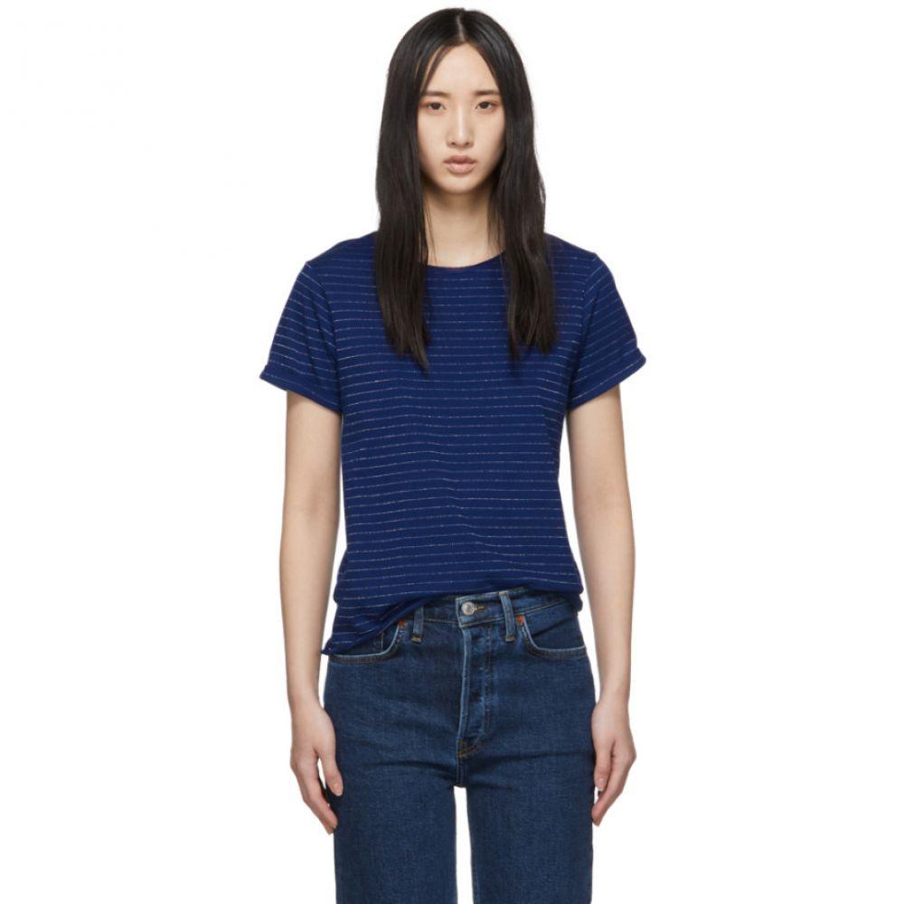 アーペーセー A.P.C. レディース トップス Tシャツ【Indigo Millbrook T-Shirt】