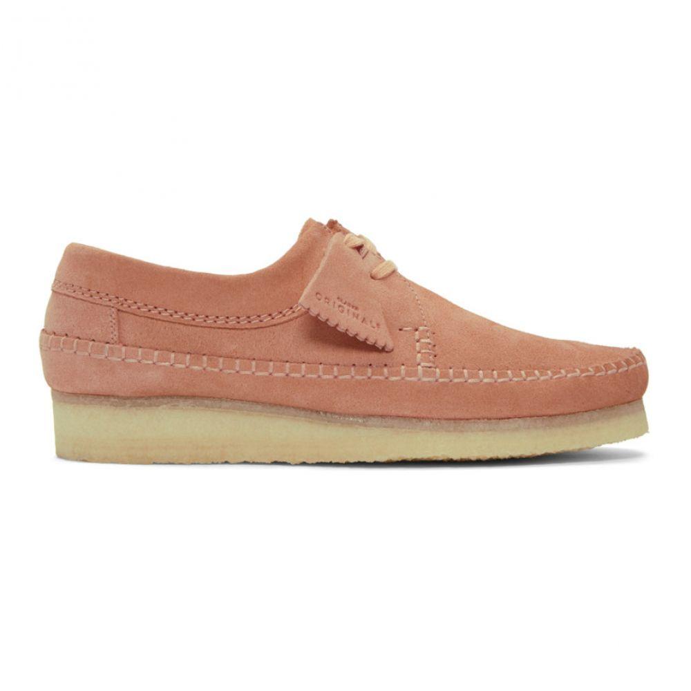 クラークス Clarks Originals メンズ シューズ・靴 スリッポン・フラット【Pink Suede Weaver Moccassins】