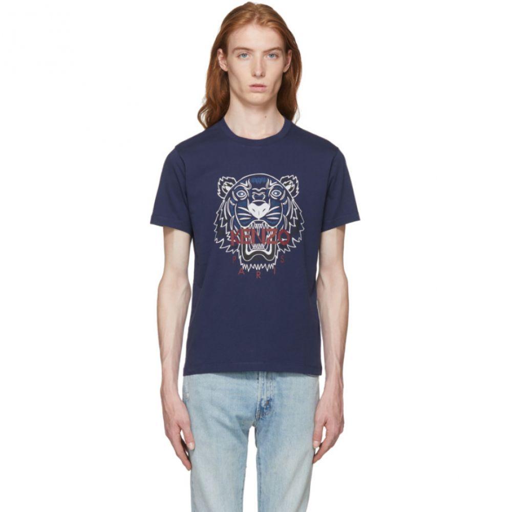 ケンゾー Kenzo メンズ トップス Tシャツ【Navy Bleached Tiger T-Shirt】