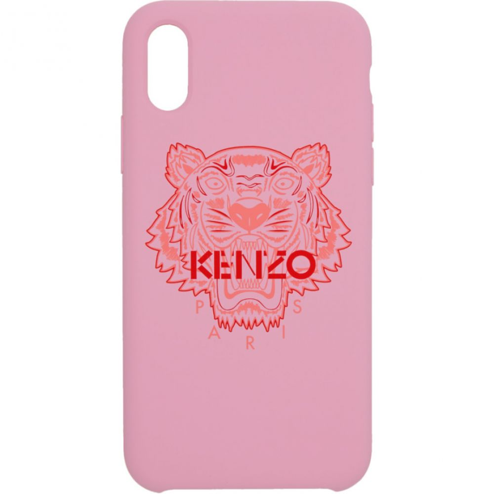 ケンゾー Kenzo レディース iPhone (X)ケース【Pink & Red Tiger iPhone X/XS Case】