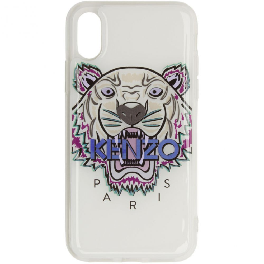ケンゾー Kenzo レディース iPhone (X)ケース【White Tiger iPhone X/XS Case】