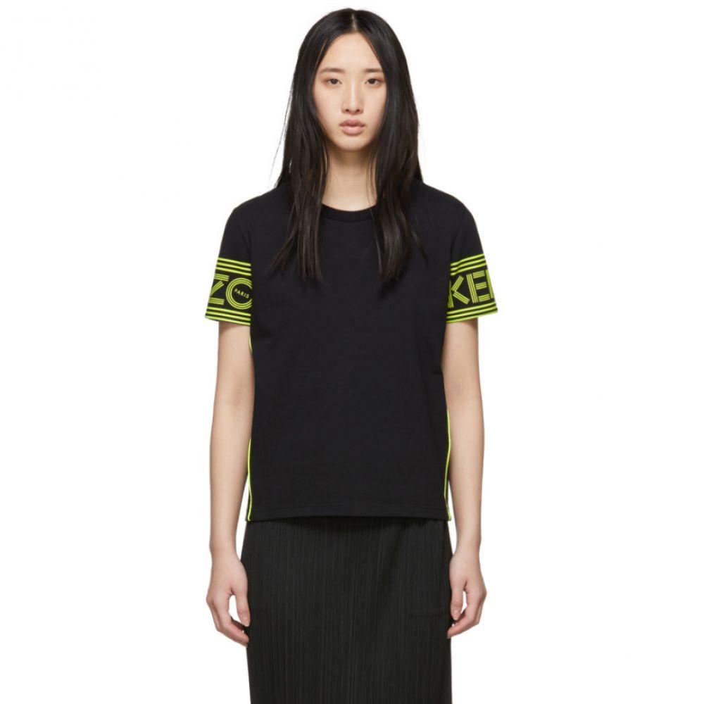 ケンゾー Kenzo レディース トップス Tシャツ【Black & Yellow Logo T-Shirt】