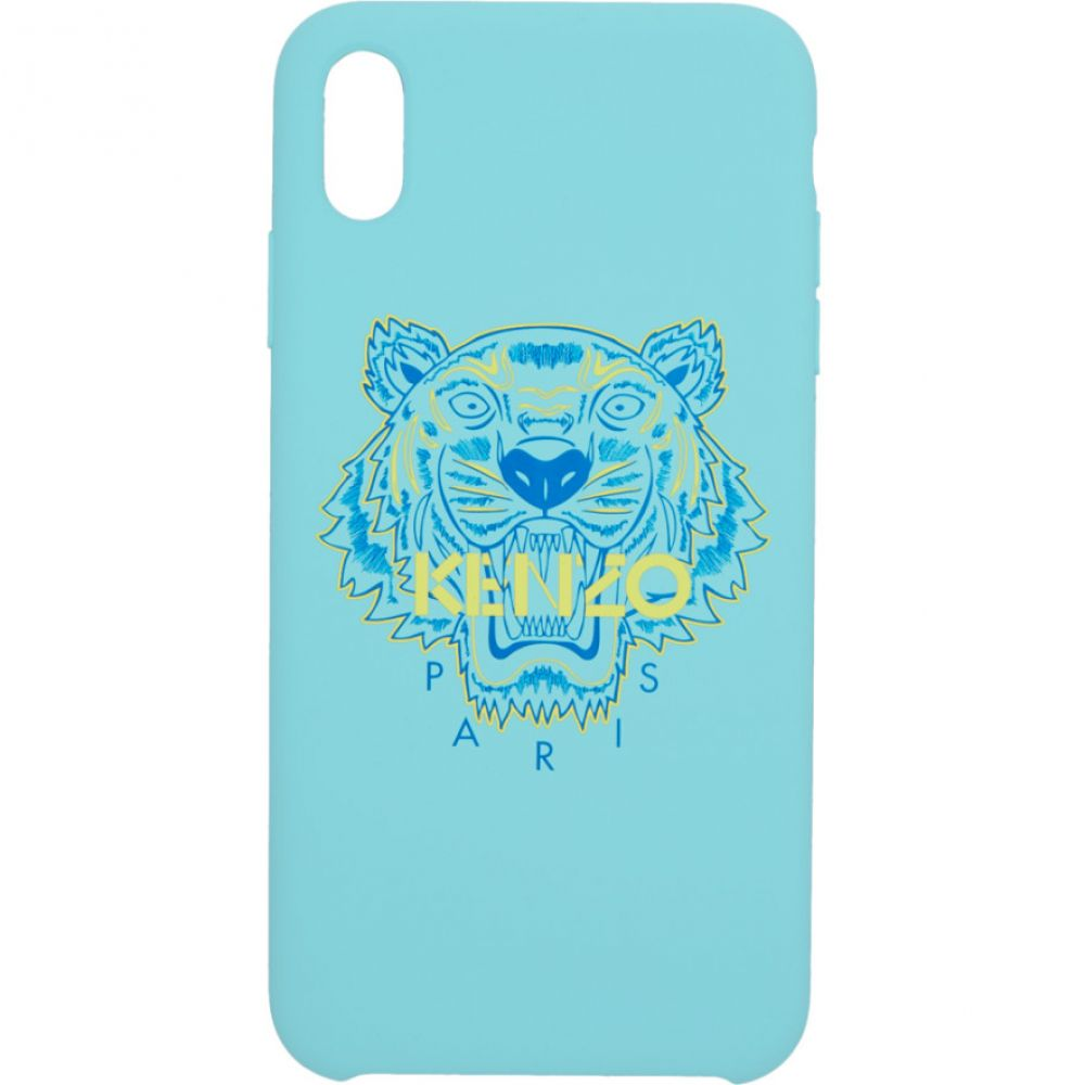 ケンゾー Kenzo メンズ iPhone (X)ケース【Blue & Yellow Tiger iPhone X/XS Case】