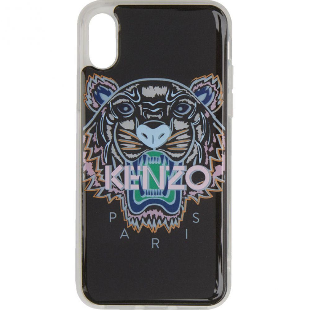 ケンゾー Kenzo メンズ iPhone (X)ケース【Black & Pink Tiger iPhone X/XS Case】