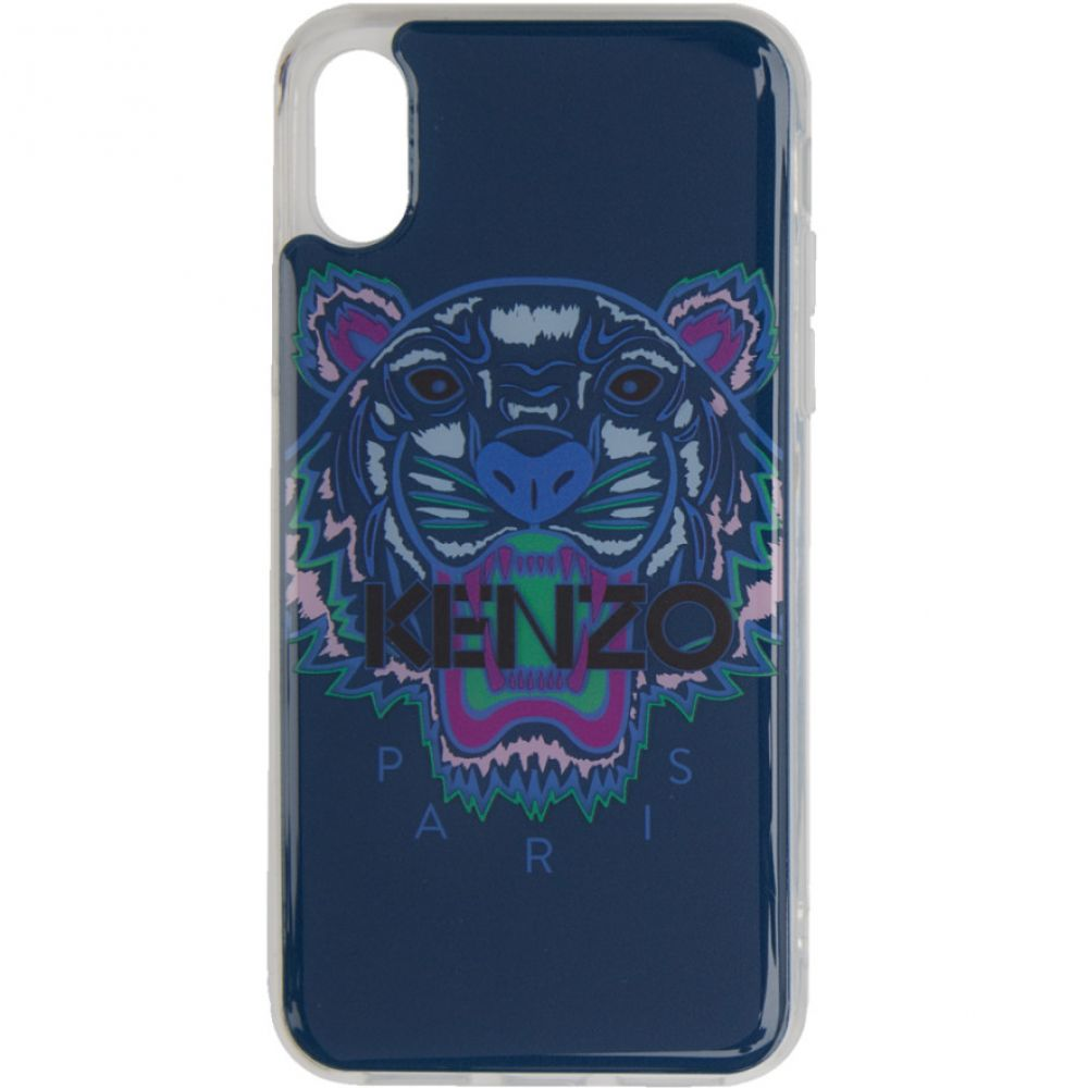 ケンゾー Kenzo メンズ iPhone (X)ケース【Blue & Purple Tiger iPhone X/XS Case】
