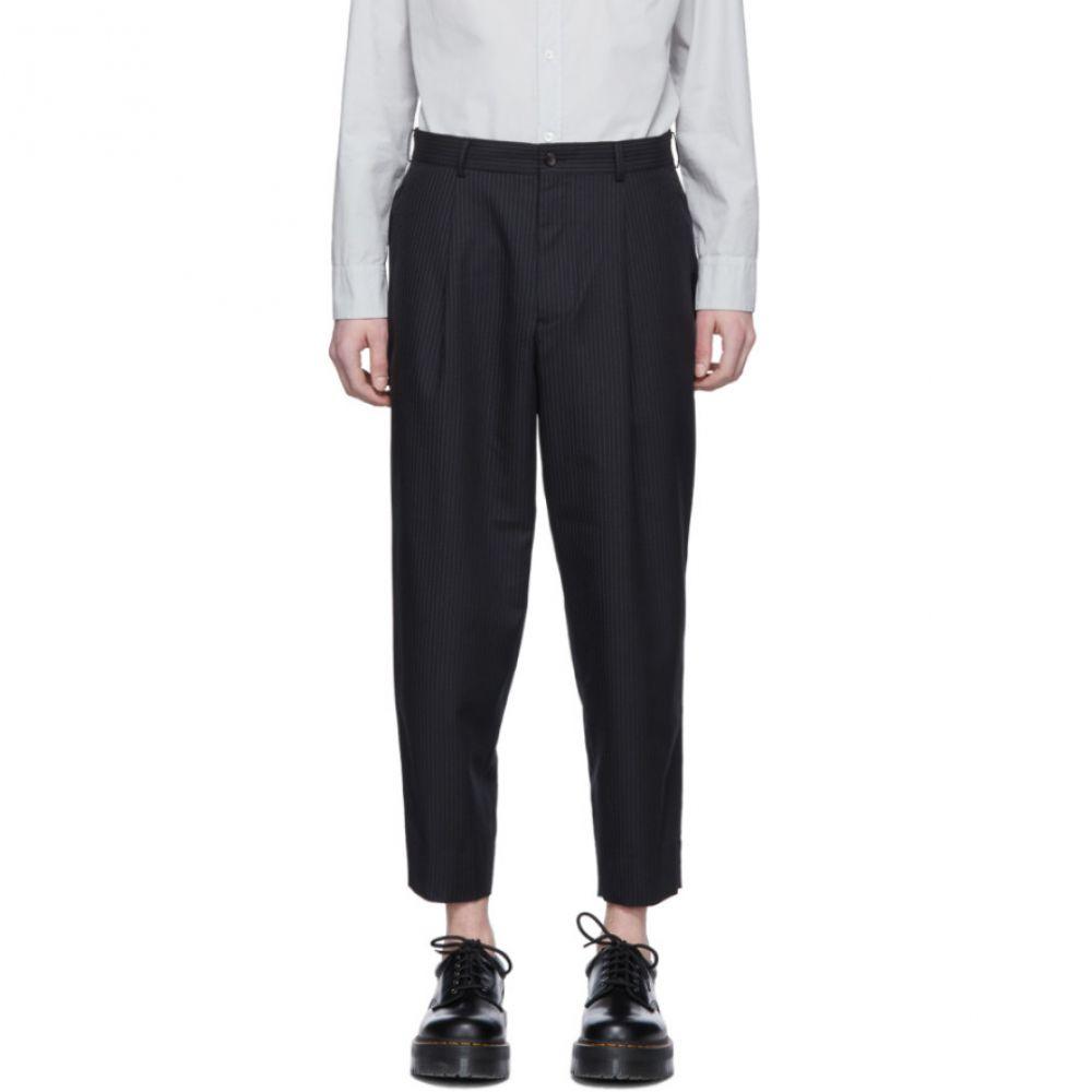 コム デ ギャルソン Comme des Garcons Homme Deux メンズ ボトムス・パンツ【Black Thin Stripe Trousers】