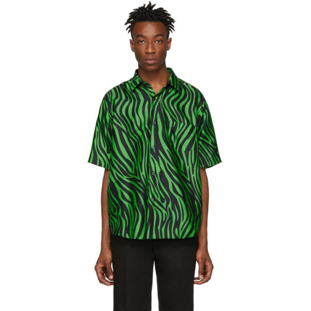 コブラ S.C. Cobra S.C. メンズ トップス 半袖シャツ【Black & Green Model 1 Short Sleeve Shirt】
