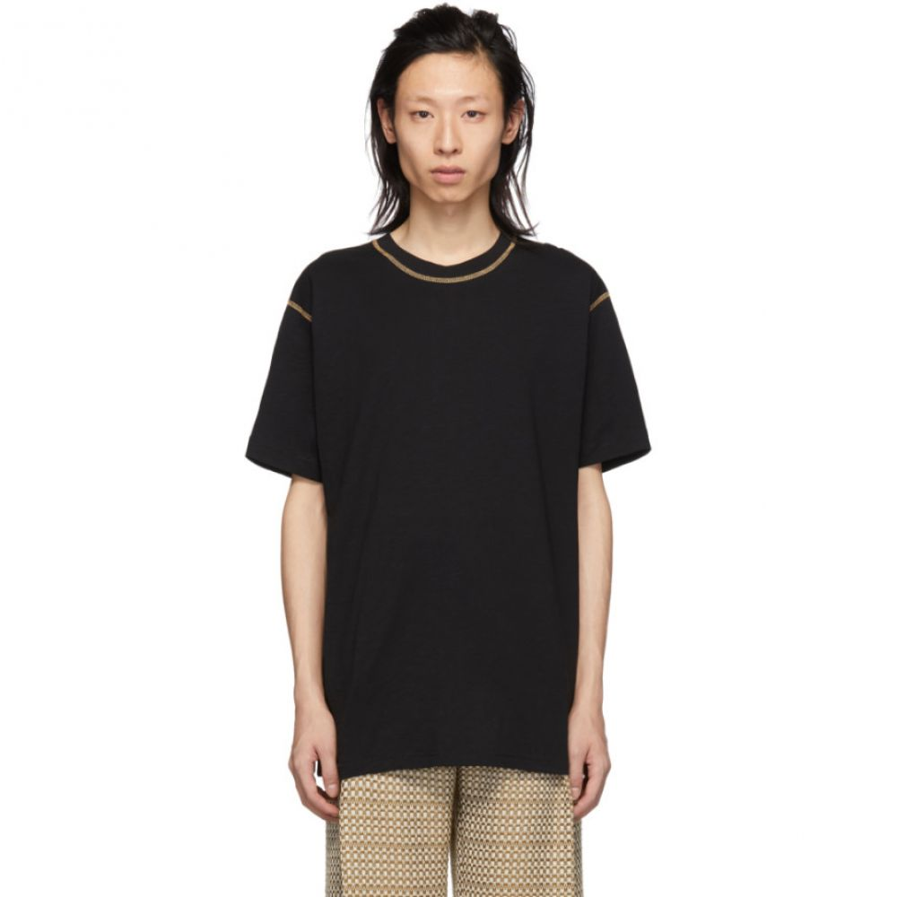 コモン スウェーデン CMMN SWDN メンズ トップス Tシャツ【Black Ridley Contrast T-Shirt】
