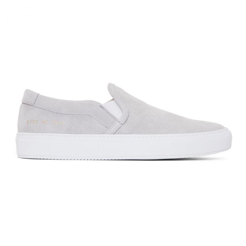 コモン プロジェクト Common Projects メンズ シューズ・靴 スリッポン・フラット【Grey Suede Slip-On Sneakers】