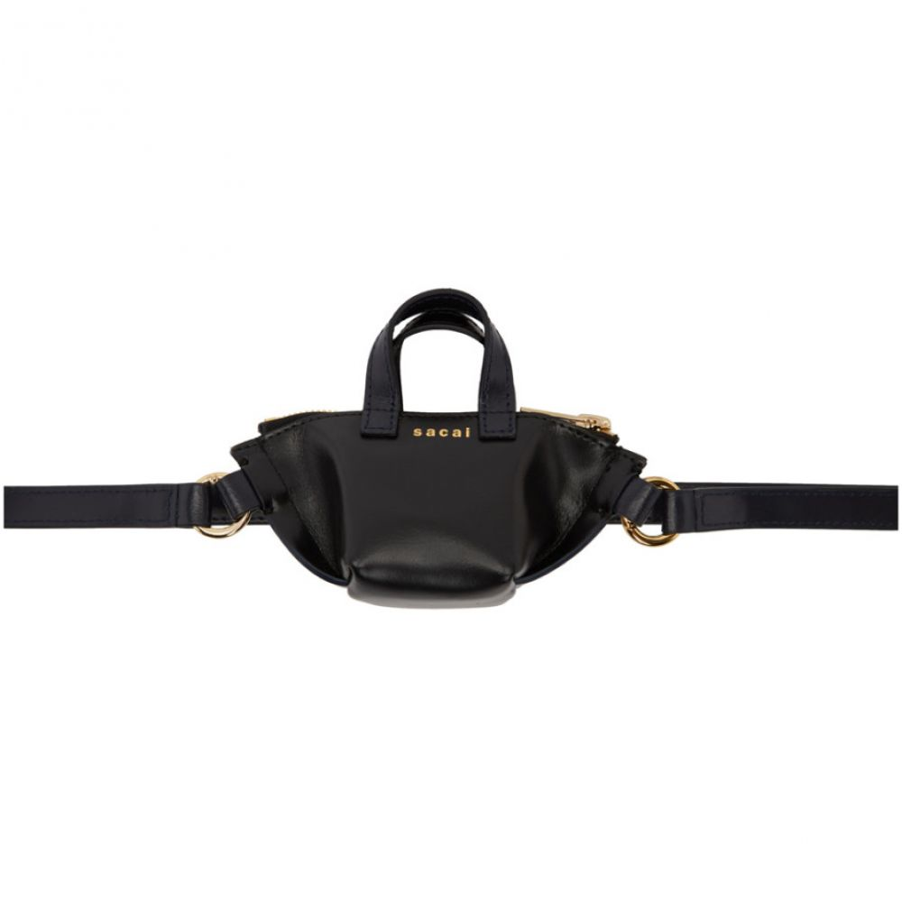 サカイ Sacai レディース バッグ【Black Mini Trapezoid Bag】
