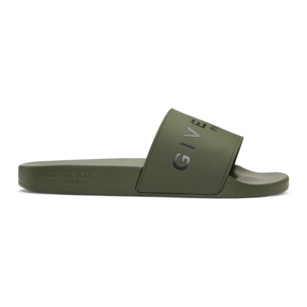 ジバンシー ジバンシー Givenchy メンズ シューズ・靴 Slides】 サンダル メンズ【Khaki Logo Pool Slides】, 阿智村:a34c2956 --- sunward.msk.ru