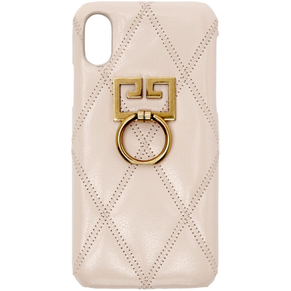 ジバンシー Givenchy レディース iPhone (X)ケース【Pink Diamond Quilted iPhone XS/X Case】