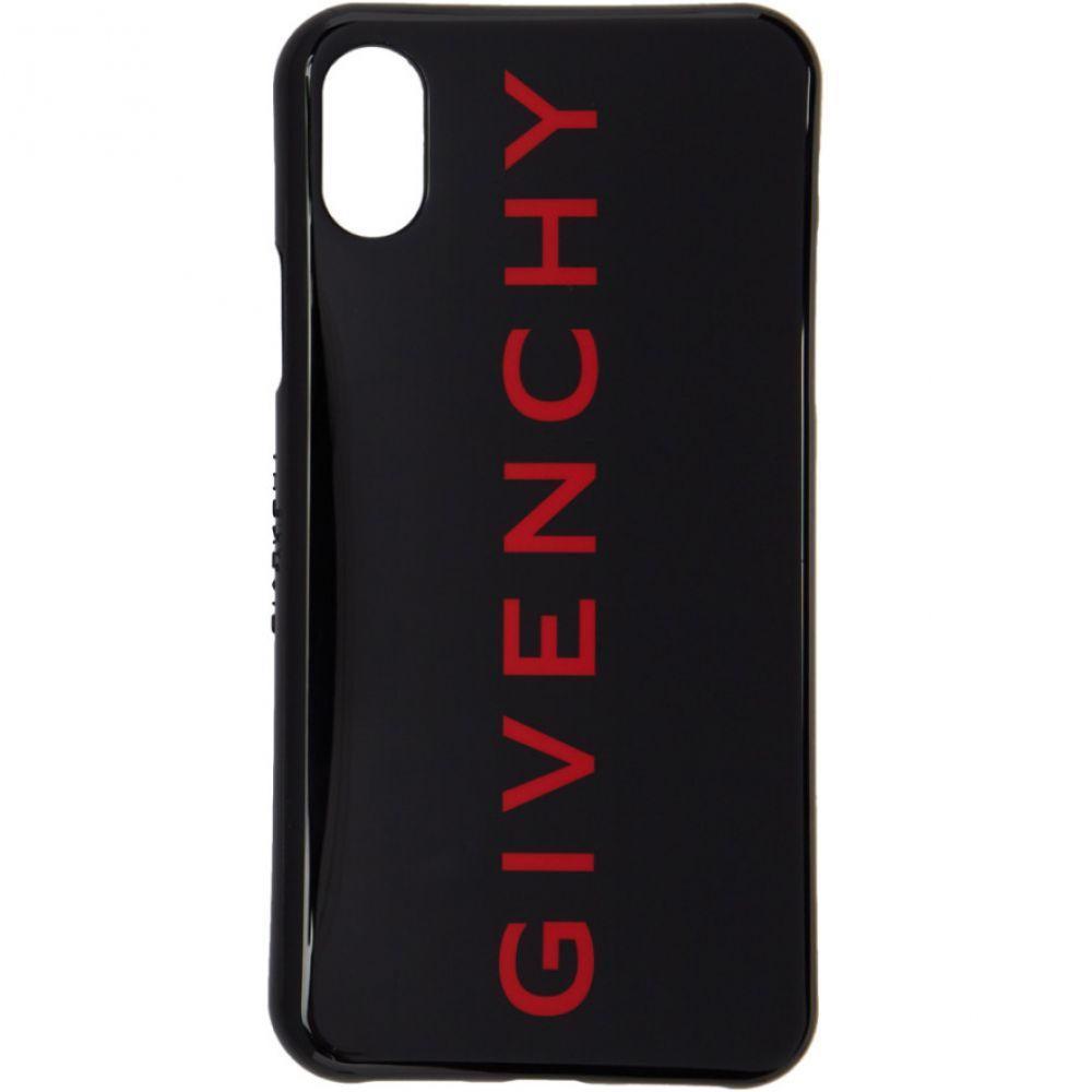 ジバンシー Givenchy メンズ iPhone (X)ケース【Black & Red Logo iPhone X/XS Case】