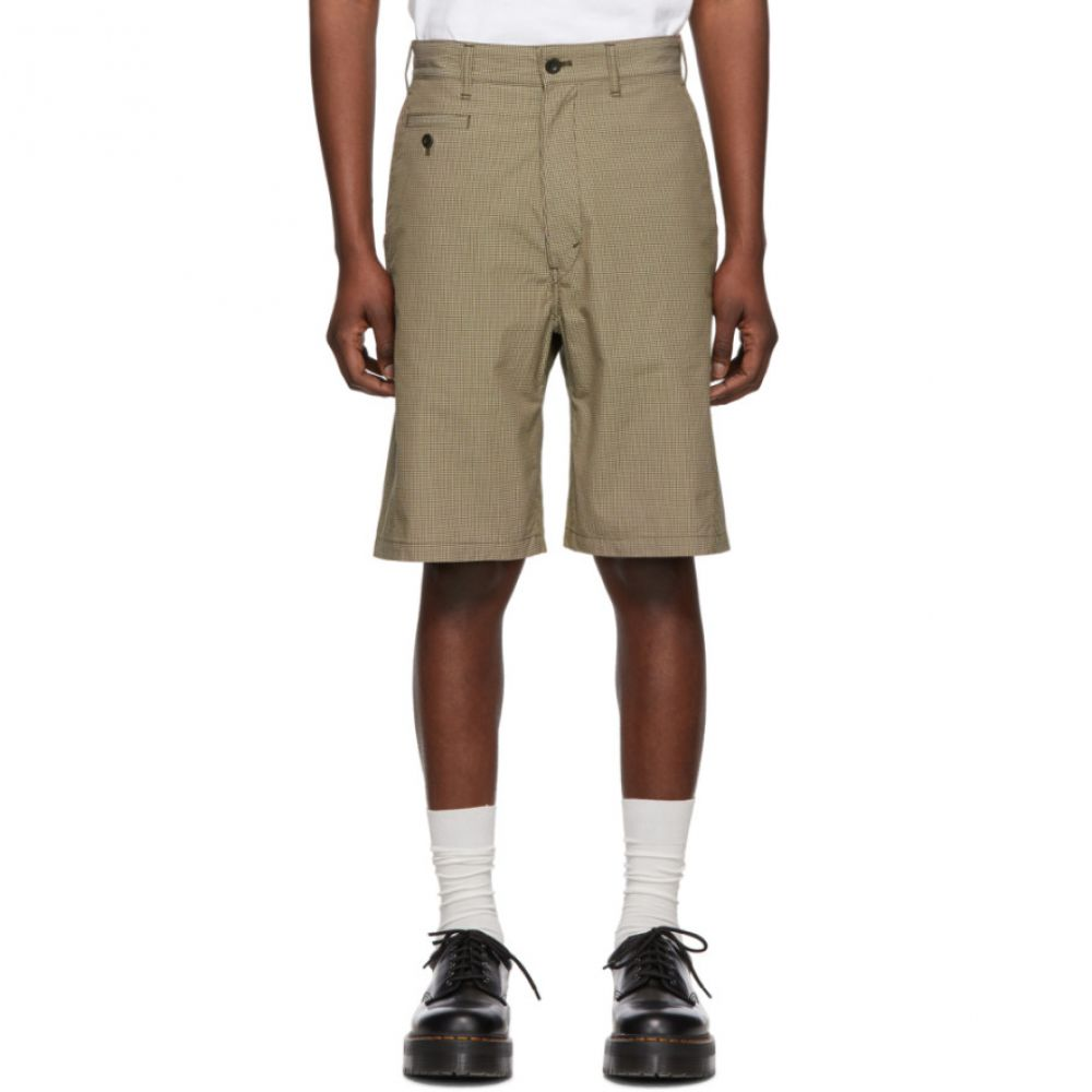 ジュンヤ ワタナベ Junya Watanabe メンズ ボトムス・パンツ ショートパンツ【Beige & Brown Check Military Cord Shorts】
