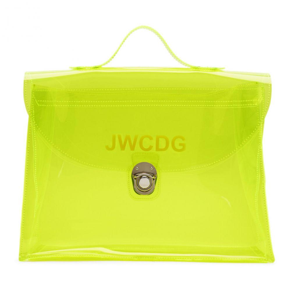 ジュンヤ ワタナベ ジュンヤ Junya Watanabe レディース バッグ ハンドバッグ ワタナベ バッグ【Yellow Transparent 'JWCDG' Top Handle Bag】, グローバルタイヤ:09ce5b0e --- sunward.msk.ru