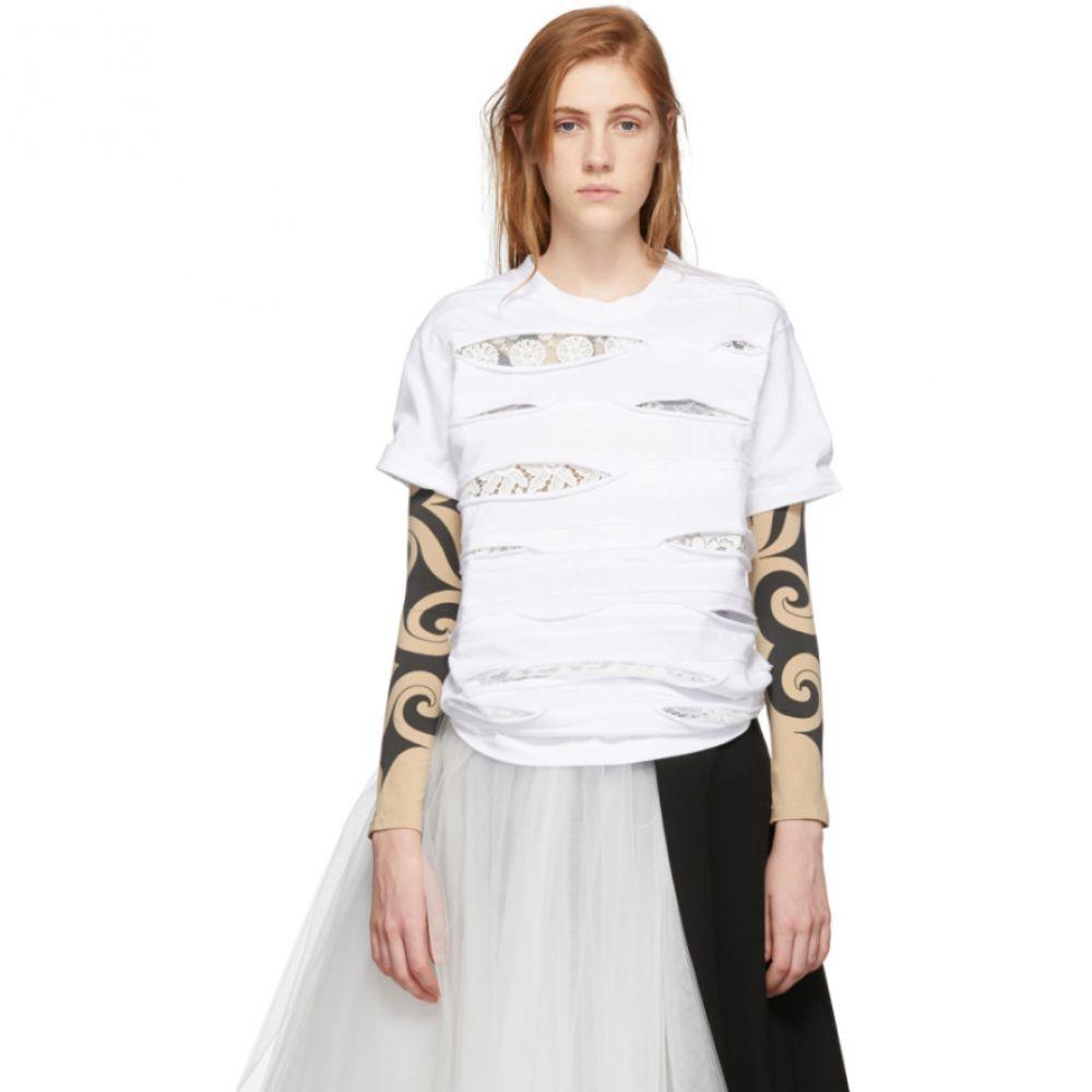 ジュンヤ ワタナベ Junya Watanabe レディース トップス Tシャツ【White Lace T-Shirt】
