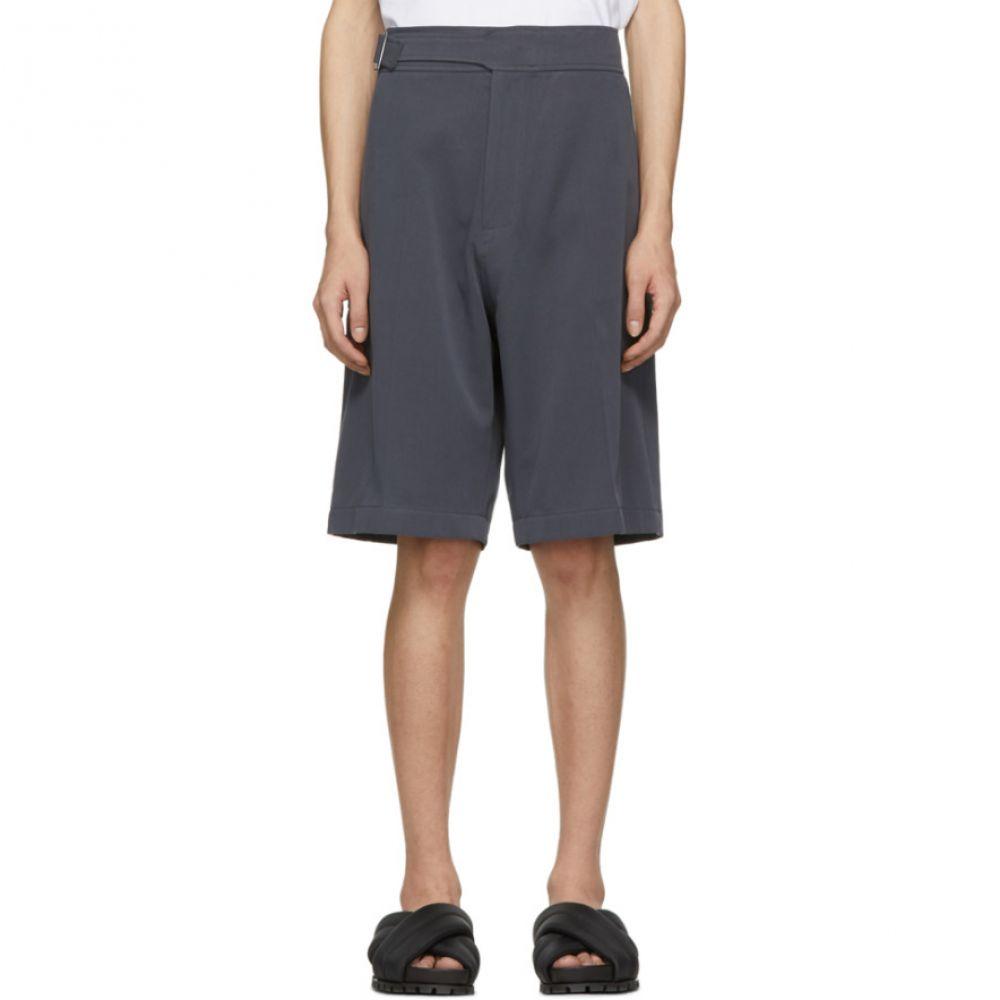 スタジオ ニコルソン Studio Nicholson メンズ ボトムス・パンツ ショートパンツ【Grey Berruti Cynch Shorts】