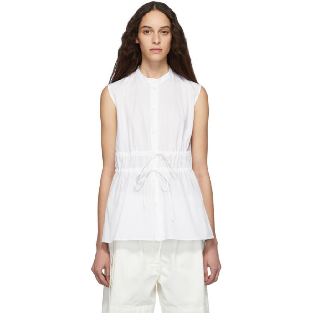 ジル サンダー Jil Sander Navy レディース トップス ブラウス・シャツ【White Double Tie Front Shirt】