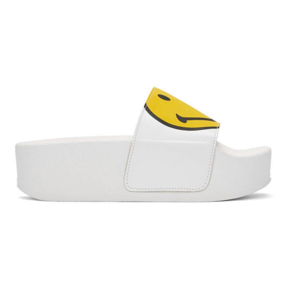 ジョシュア サンダース Joshua Sanders レディース シューズ・靴 サンダル・ミュール【White Macro Smiley Platform Sandals】