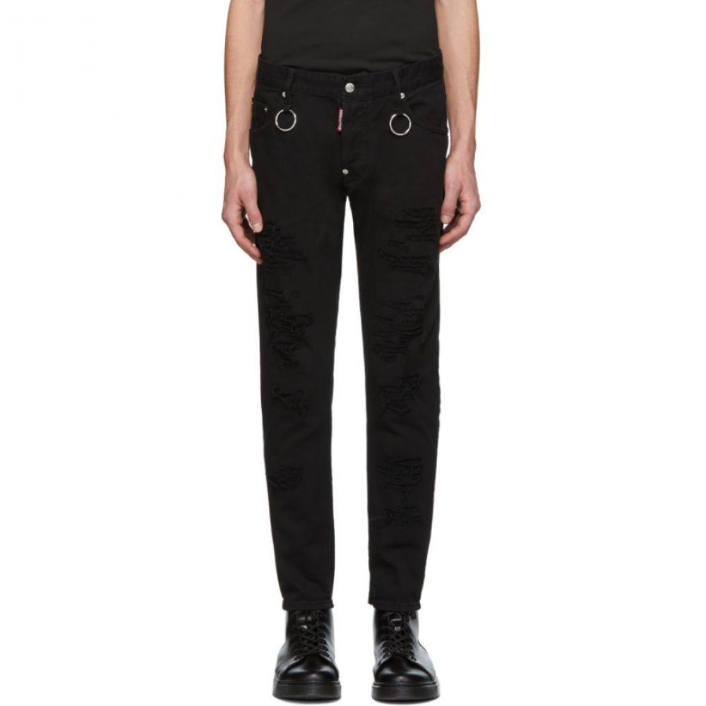 ディースクエアード Dsquared2 メンズ ボトムス・パンツ ジーンズ・デニム【Black Rip Wash Rings Skater Jeans】