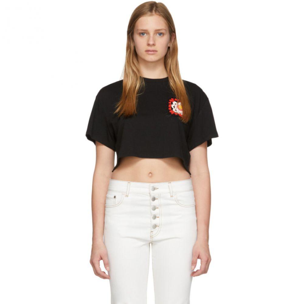 アラヌイ Alanui レディース トップス Tシャツ【Black Cashmere Crochet Pocket T-Shirt】