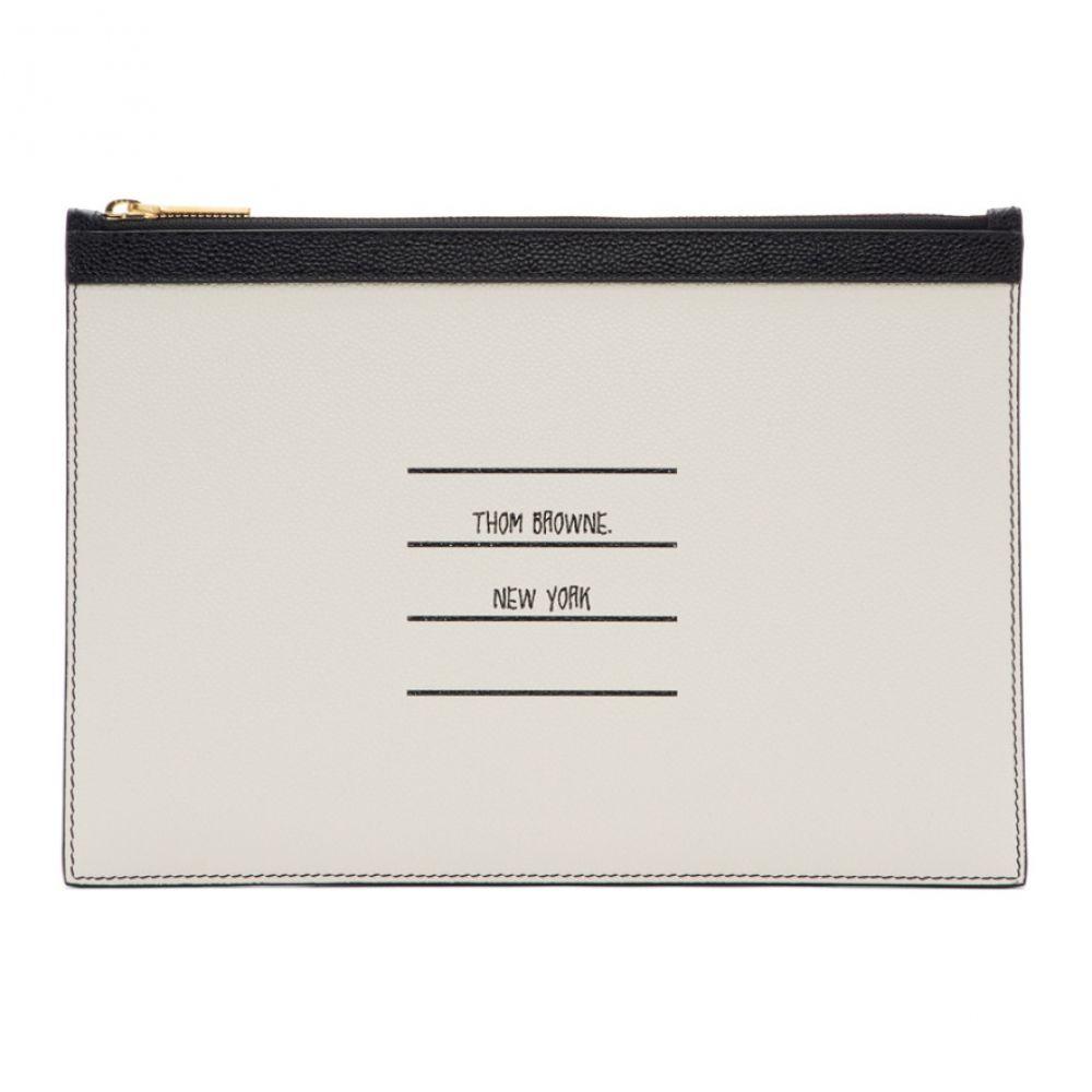 トム ブラウン Thom Browne メンズ タブレットケース【Black Paper Label Small Tablet Holder】