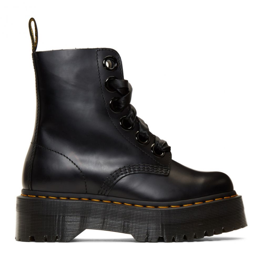 ドクターマーチン Dr. Martens レディース シューズ・靴 ブーツ【Black Molly Boots】