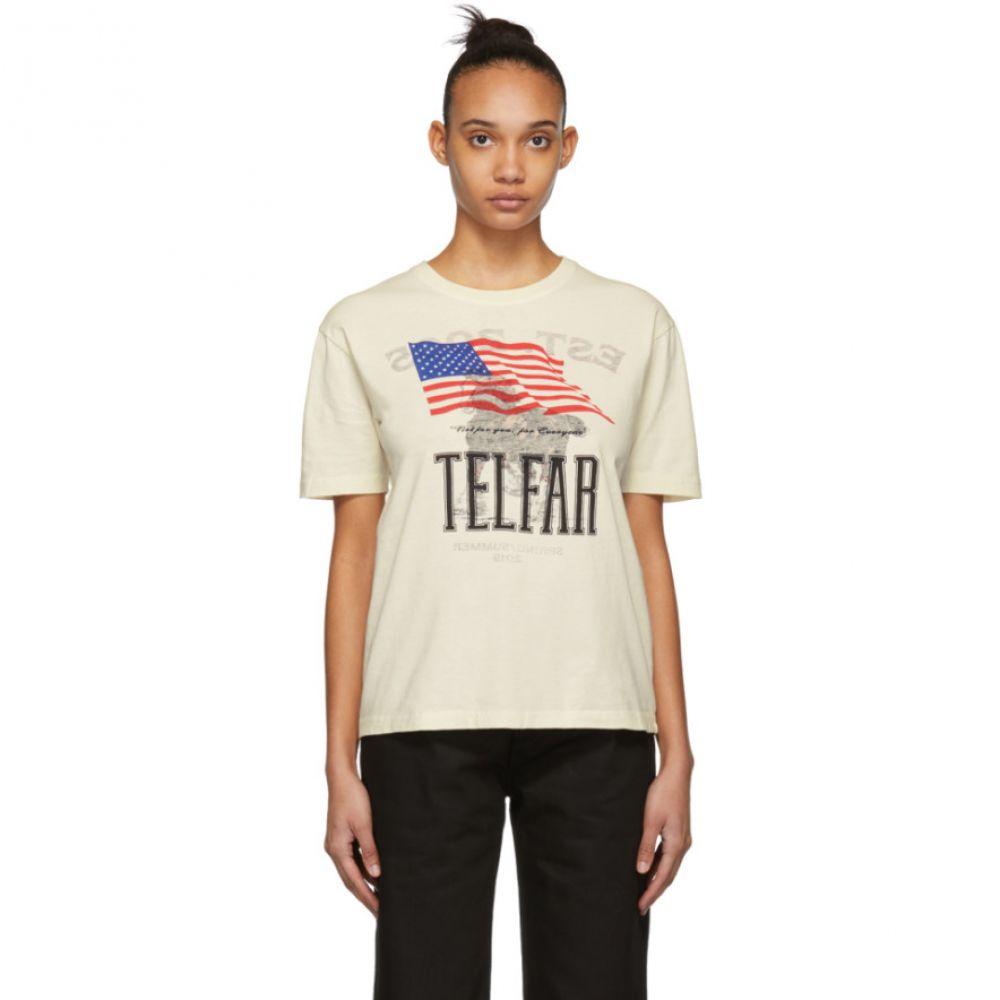 テルファー Telfar レディース トップス Tシャツ【Beige Simple Tour T-Shirt】
