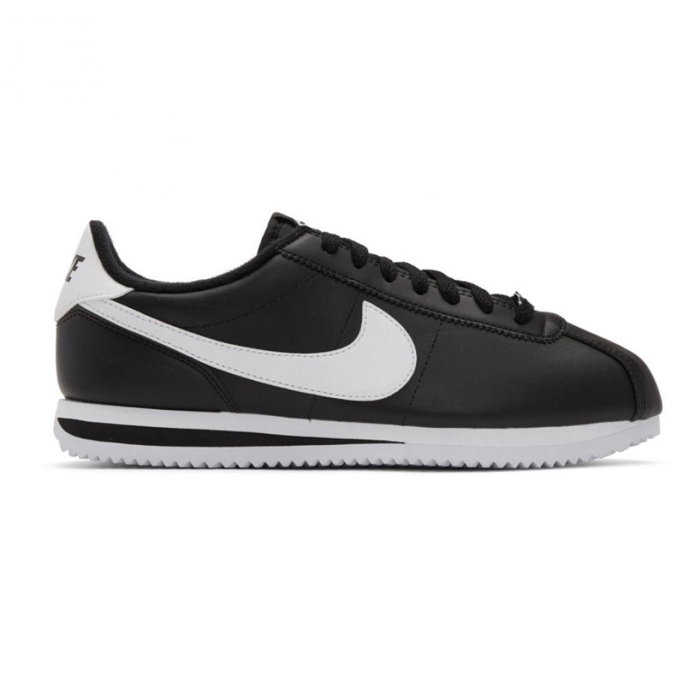 ナイキ Nike メンズ シューズ・靴 スニーカー【Black Leather Basic Cortez Sneakers】