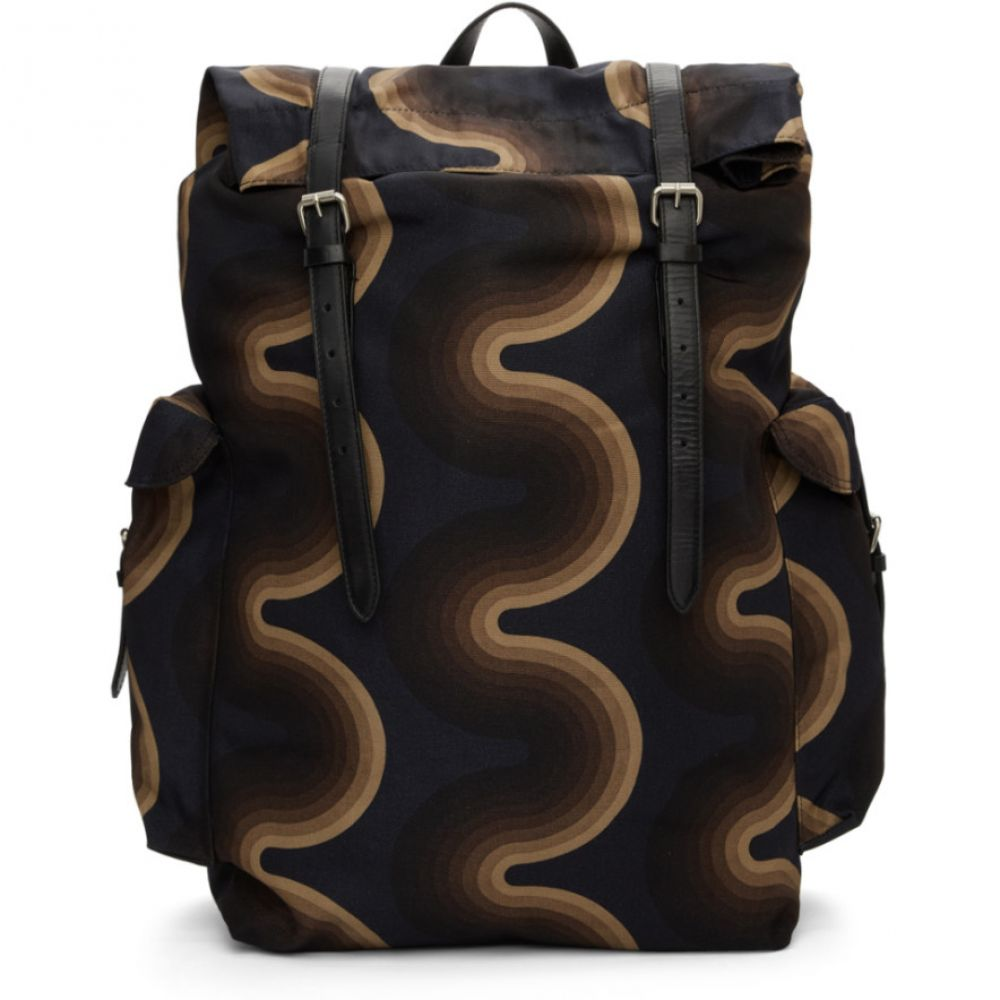 ドリス ヴァン ノッテン Dries Van Noten メンズ バッグ バックパック・リュック【Navy Verner Panton Edition Wave Backpack】