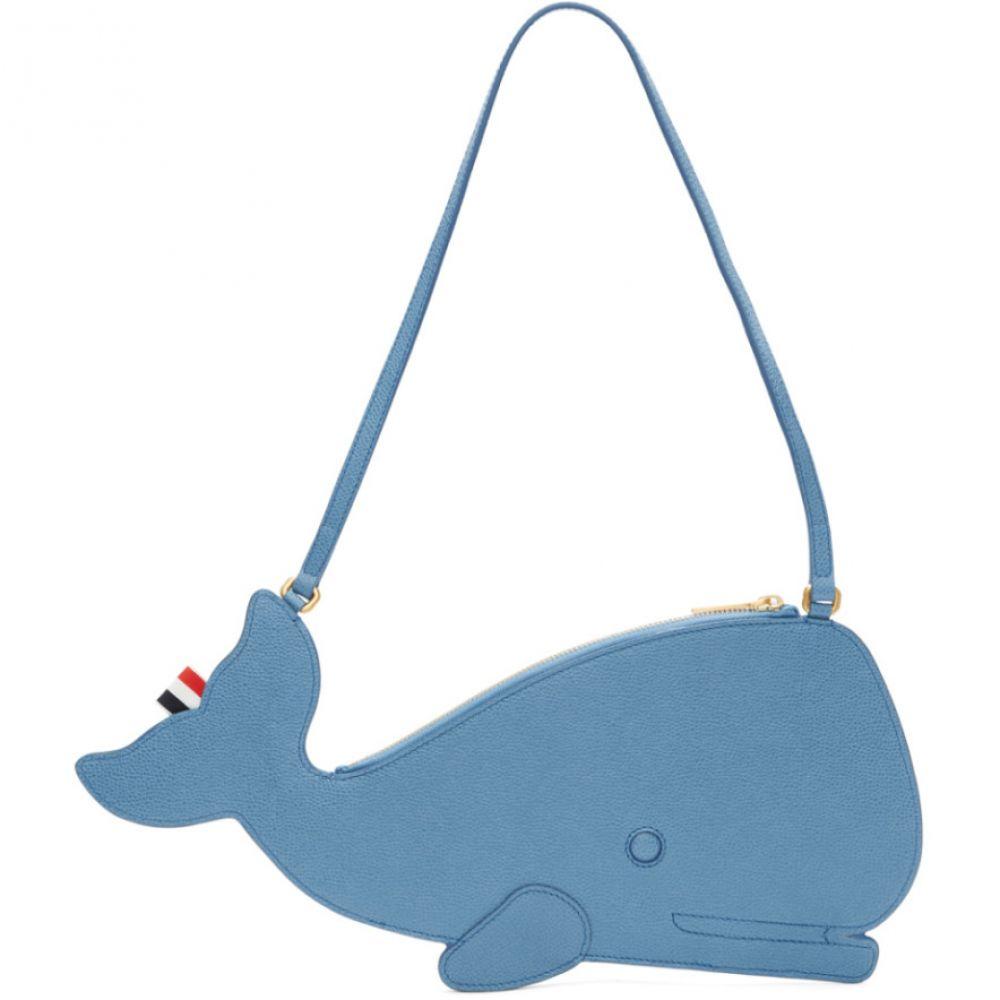 トム Clutch ブラウン Thom Thom Browne レディース Bag】 バッグ クラッチバッグ【Blue Whale Icon Flat Clutch Bag】, セレクトメモリアルの未来創想:5d435efe --- sunward.msk.ru