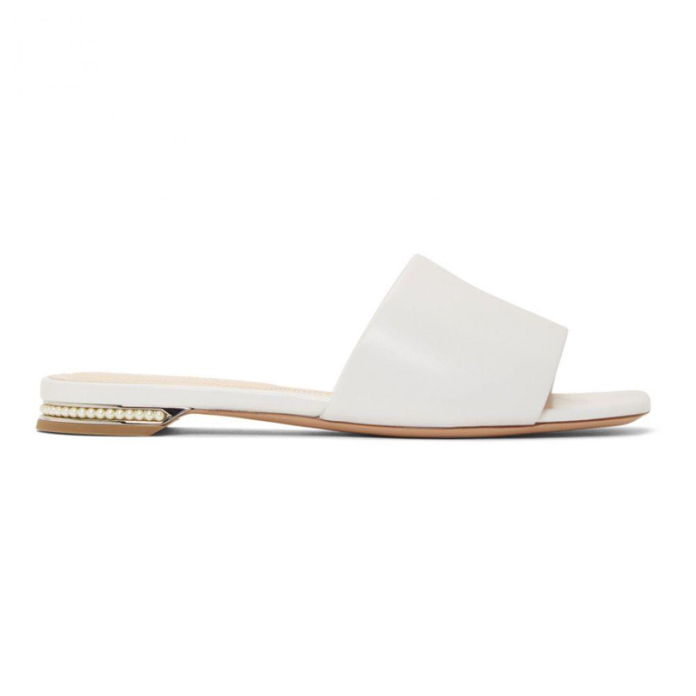 ニコラス カークウッド Nicholas Kirkwood レディース シューズ・靴 サンダル・ミュール【White Casati Pearl Slides】
