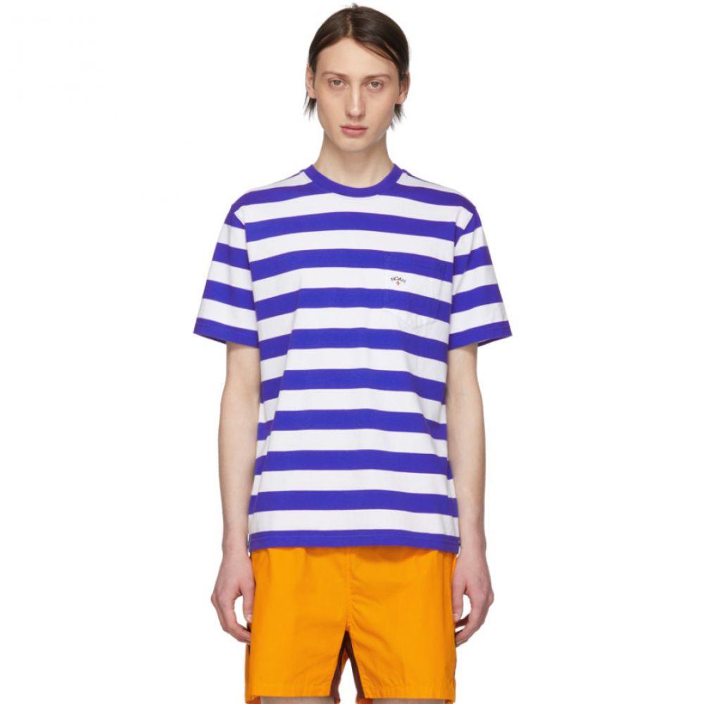 ノア Noah NYC メンズ トップス Tシャツ【Blue & White Stripe Pocket T-Shirt】
