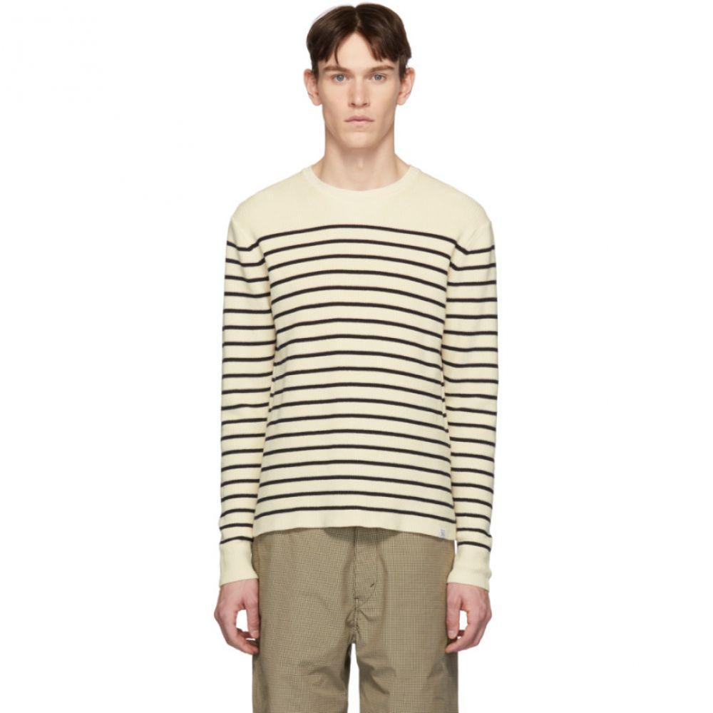 ノースプロジェクト Norse Projects メンズ トップス【Off-White & Navy Stripe Verner Normandy Sweater】