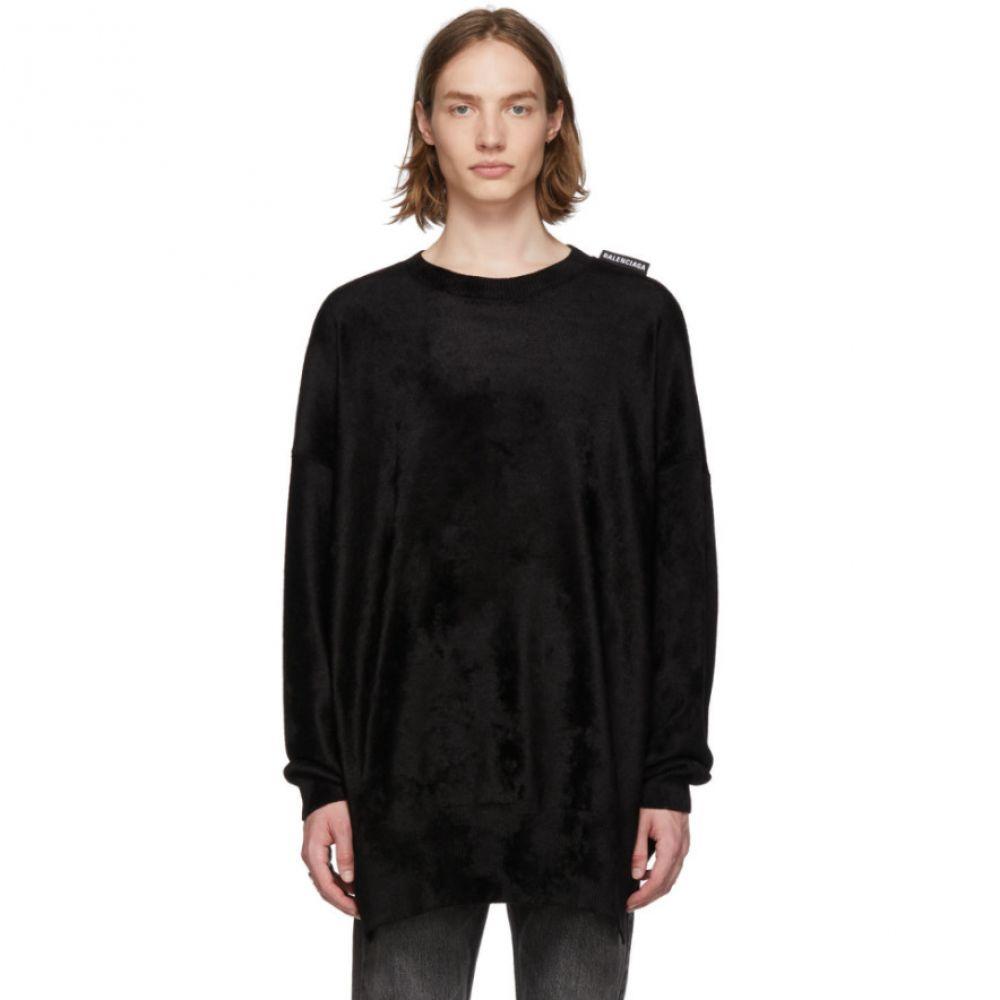 バレンシアガ Balenciaga メンズ トップス【Black Velour Sweater】