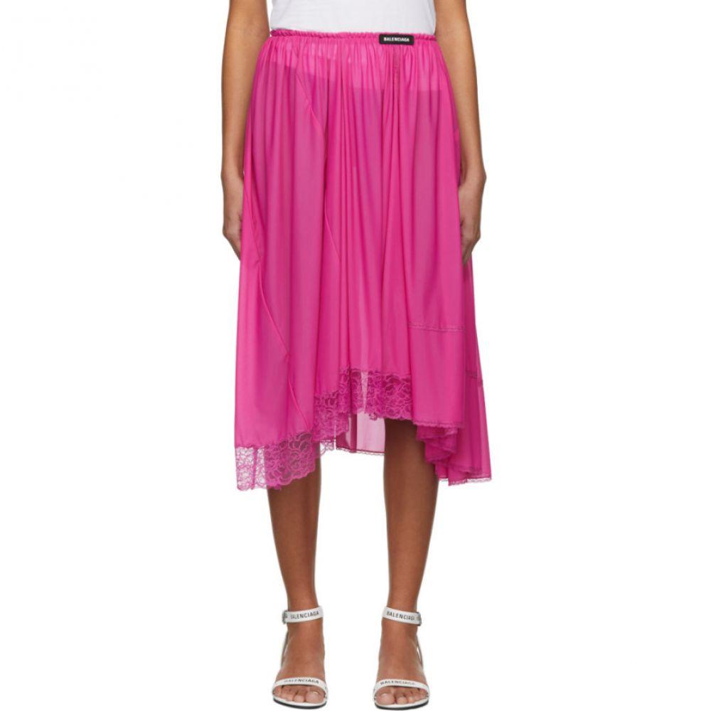 バレンシアガ Balenciaga レディース スカート ひざ丈スカート【Pink Lingerie Skirt】
