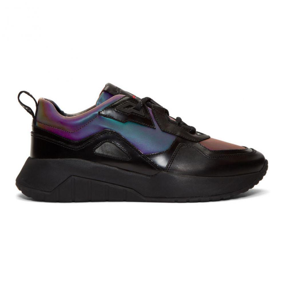 ヒューゴ ボス Hugo メンズ ランニング・ウォーキング シューズ・靴【Black Iridescent Atom Running Sneakers】
