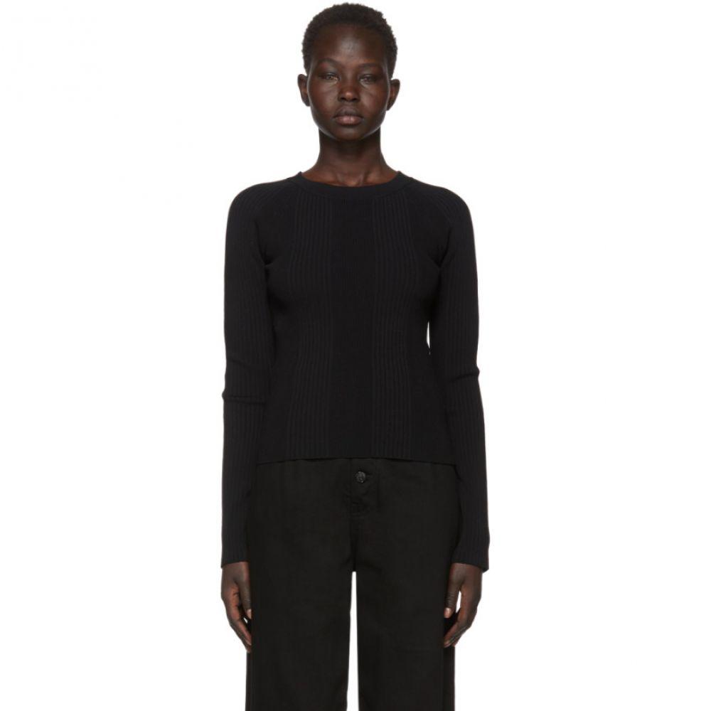 アレキサンダー ワン alexanderwang.t レディース トップス【Black Visible Strap Crewneck Sweater】