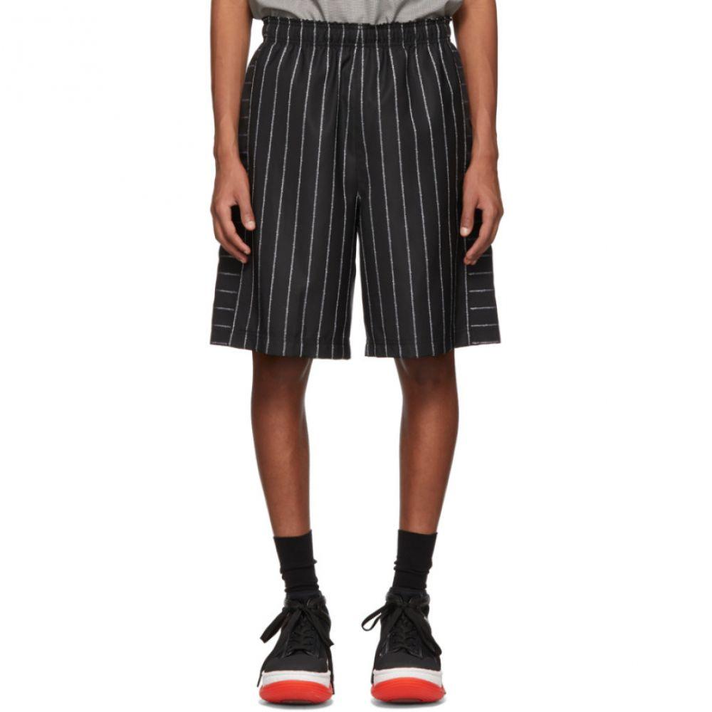 アレキサンダー ワン Alexander Wang メンズ ボトムス・パンツ ショートパンツ【Black Wool Jacquard Logo Shorts】
