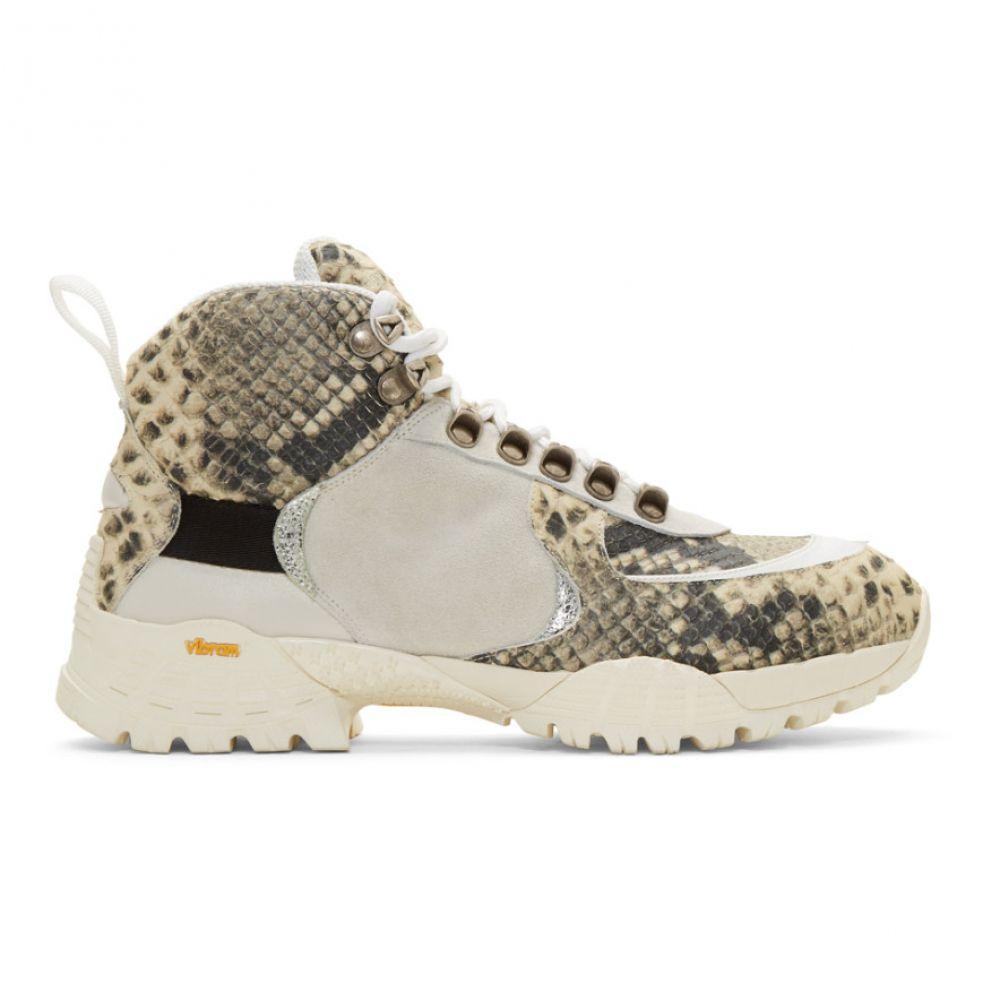 【超特価sale開催】 アリクス 1017 Alyx Hiking 9SM アリクス メンズ & ハイキング・登山 シューズ・靴【Off-White & Black Snake Hiking Boots】, フクエソン:a0424505 --- rukna.4px.tech