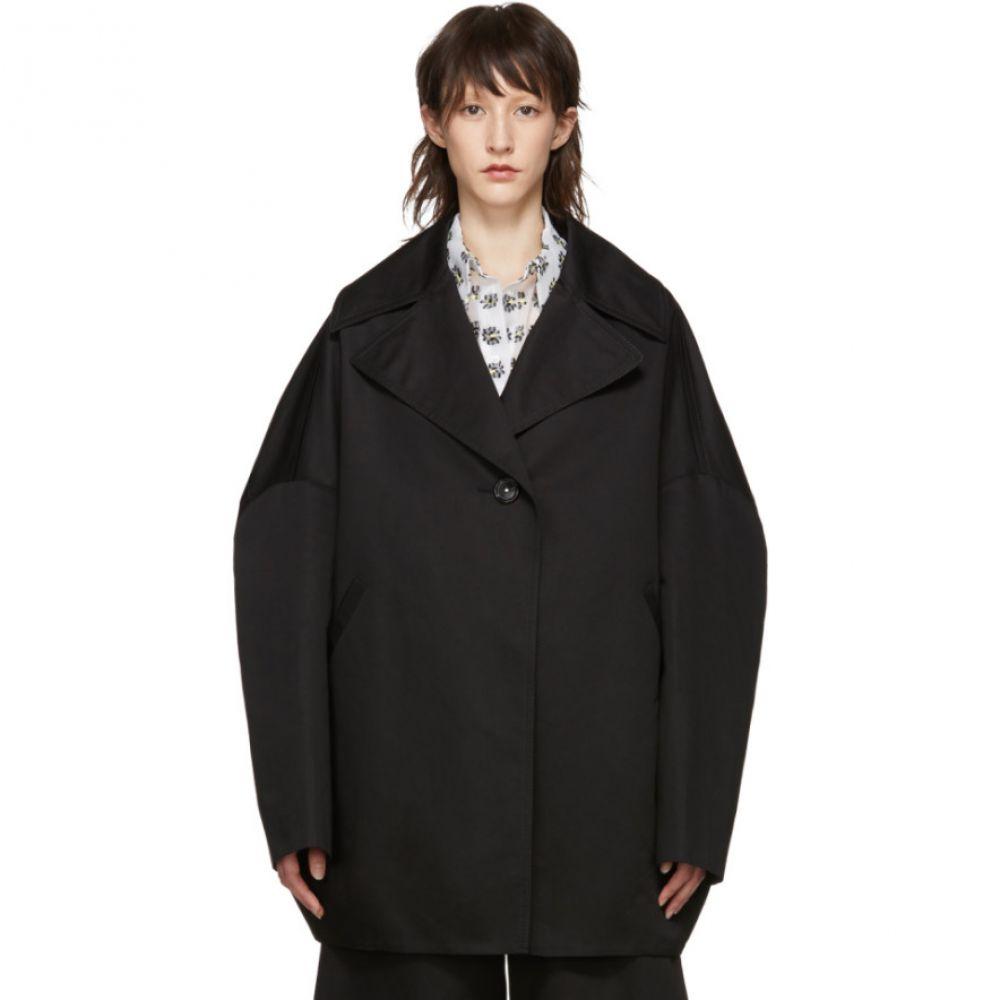マルニ Marni レディース アウター コート【Black Oversized Caban Coat】
