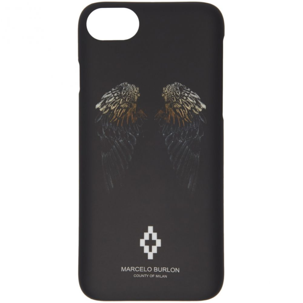 マルセロバーロン Marcelo Burlon County of Milan メンズ iPhone (8)ケース【Black Heart Wings iPhone 8 Case】
