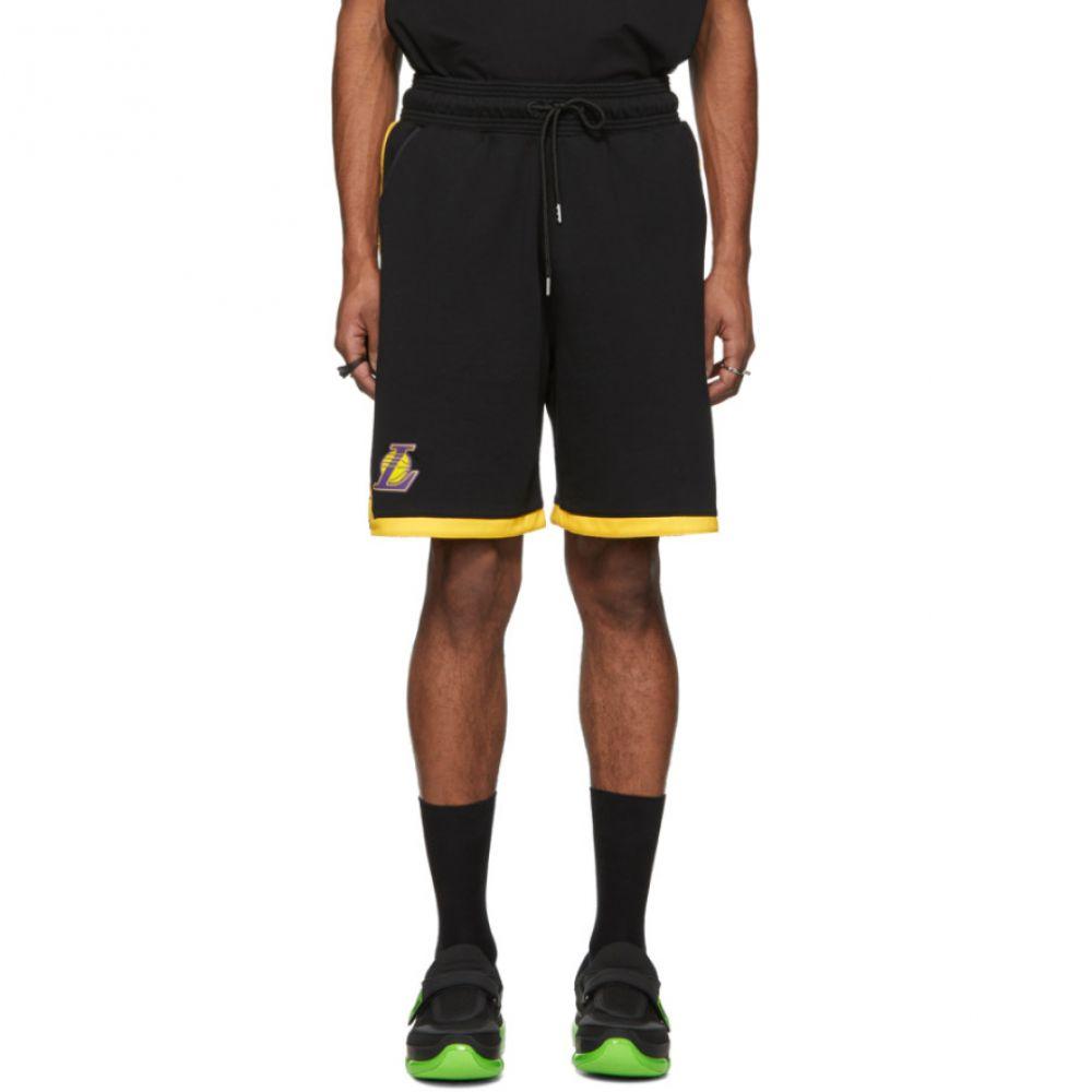 マルセロバーロン Marcelo Burlon County of Milan メンズ ボトムス・パンツ ショートパンツ【Black NBA Edition Lakers Shorts】