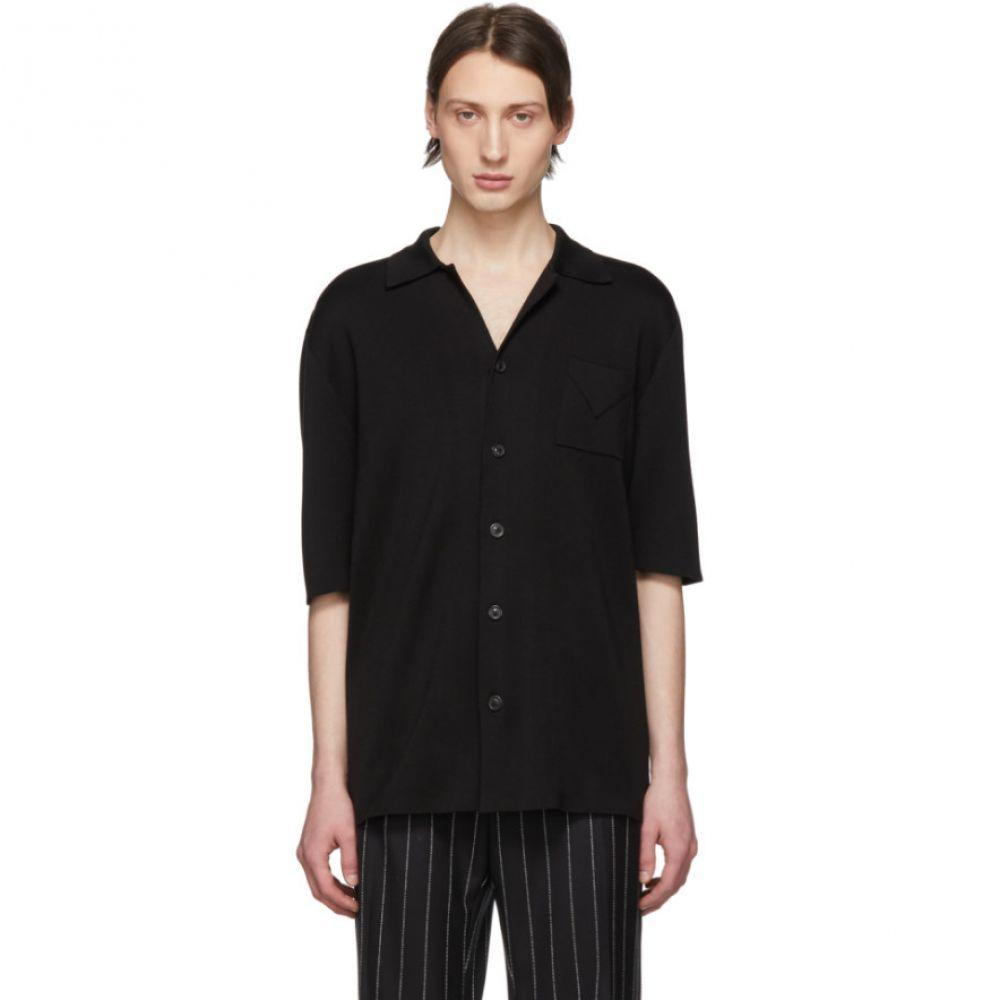 メゾン マルジェラ Maison Margiela メンズ トップス シャツ【Black Knit Silk Shirt】