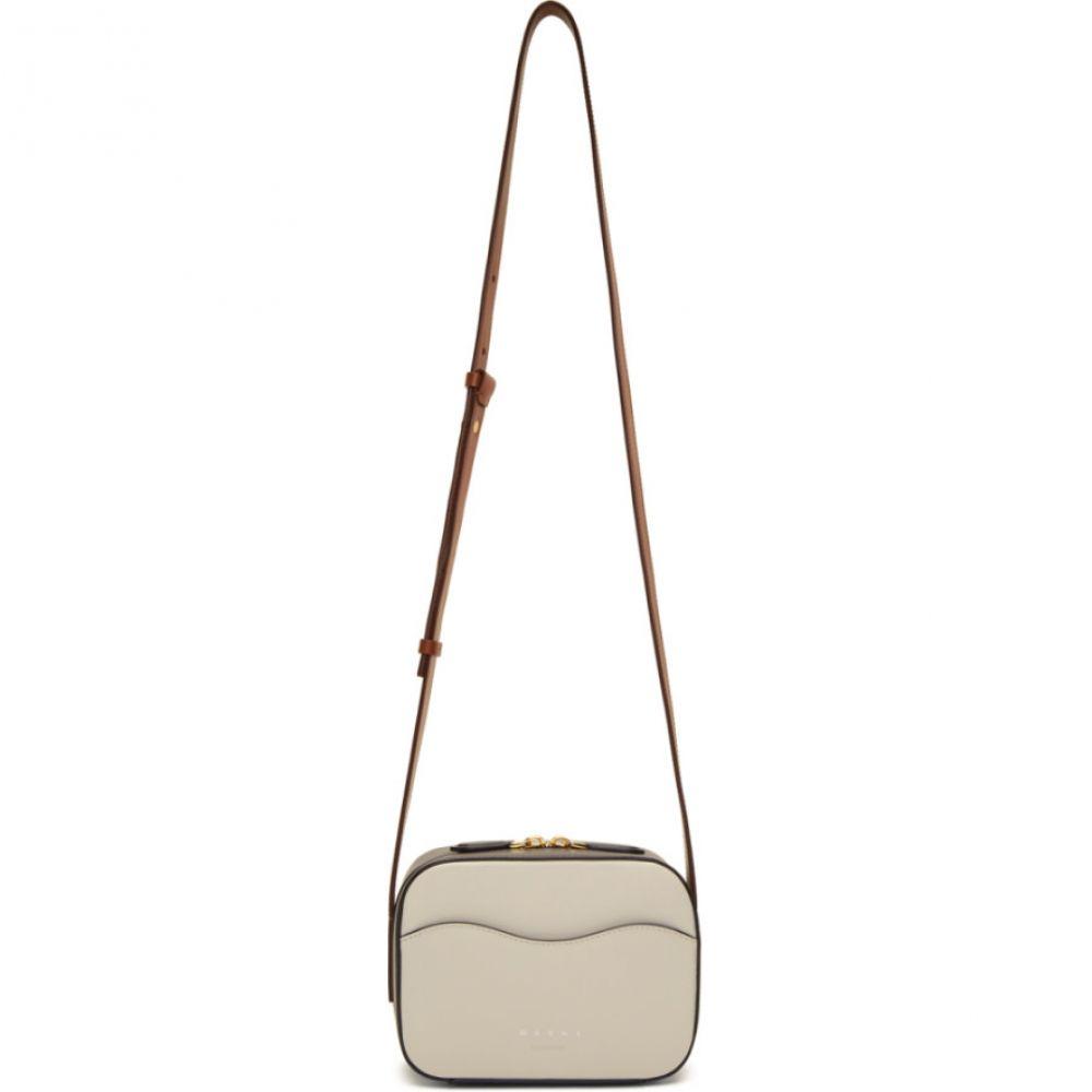 マルニ Marni レディース バッグ【White & Brown Small Shell Camera Bag】