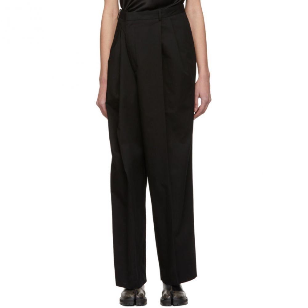 メゾン マルジェラ Maison Margiela レディース ボトムス・パンツ【Black Cotton Asymmetric Trousers】