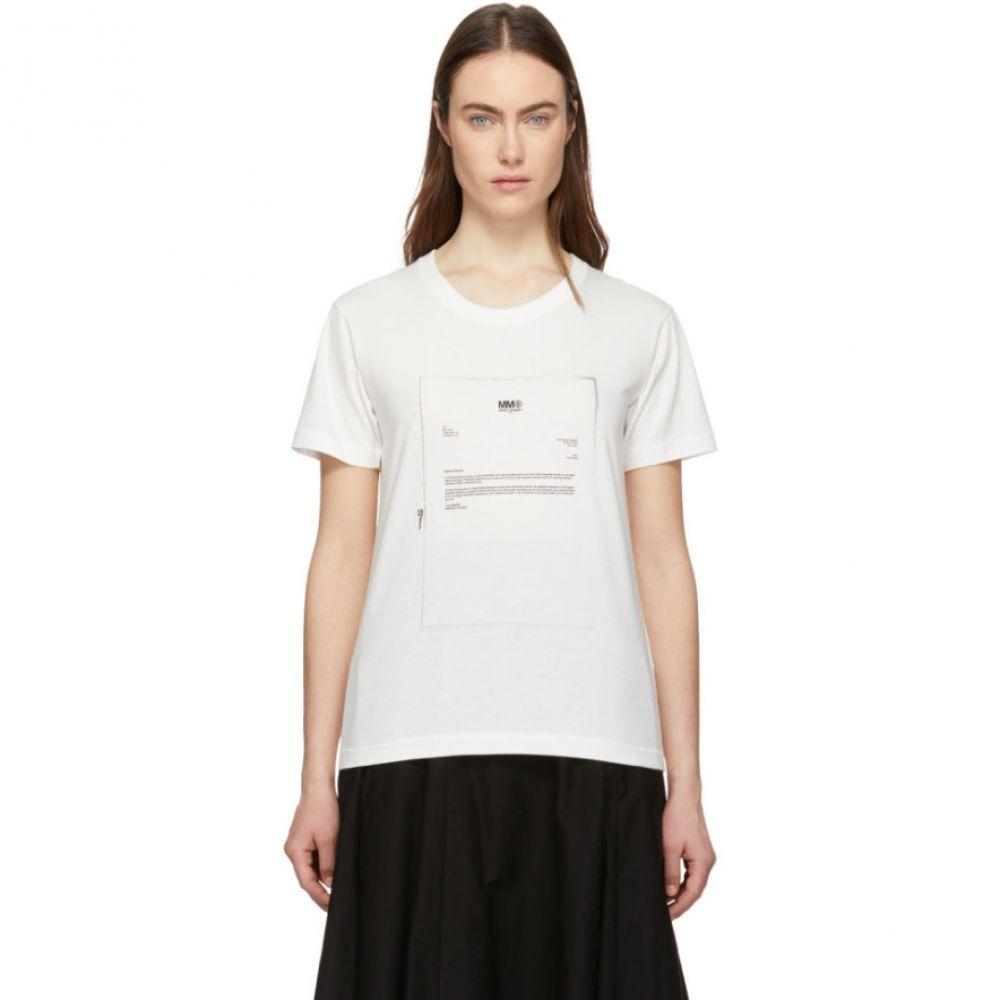 メゾン マルジェラ MM6 Maison Margiela レディース トップス Tシャツ【White Printed T-Shirt】