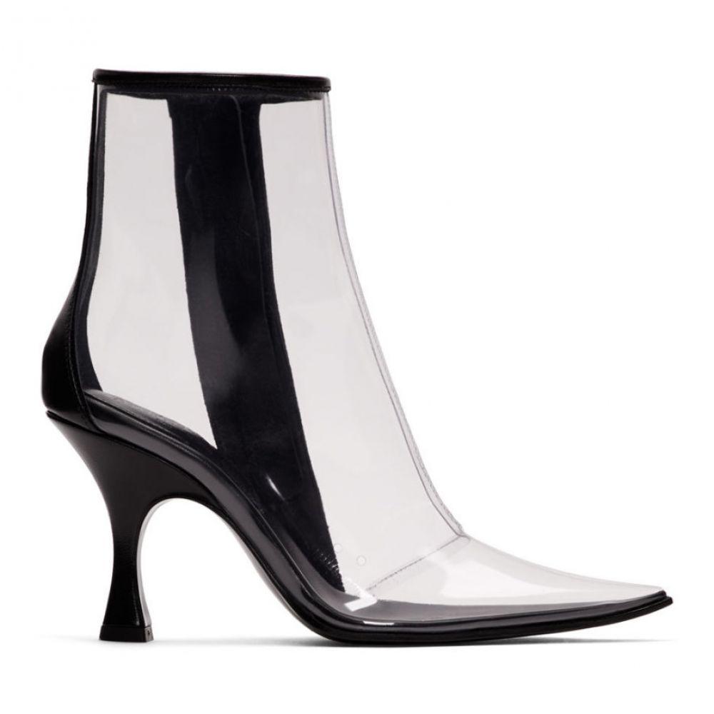 メゾン マルジェラ MM6 Maison Margiela レディース シューズ・靴 ブーツ【Black & Transparent PVC Ankle Boots】