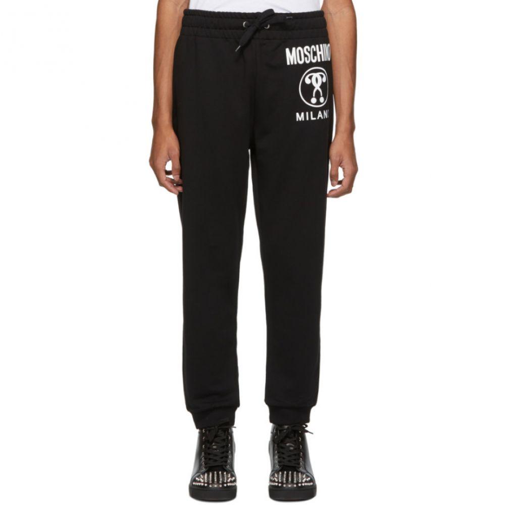 モスキーノ Moschino メンズ ボトムス・パンツ スウェット・ジャージ Double【Black Moschino Double メンズ Question Mark Lounge Pants】, 兼山町:6689abf7 --- sunward.msk.ru