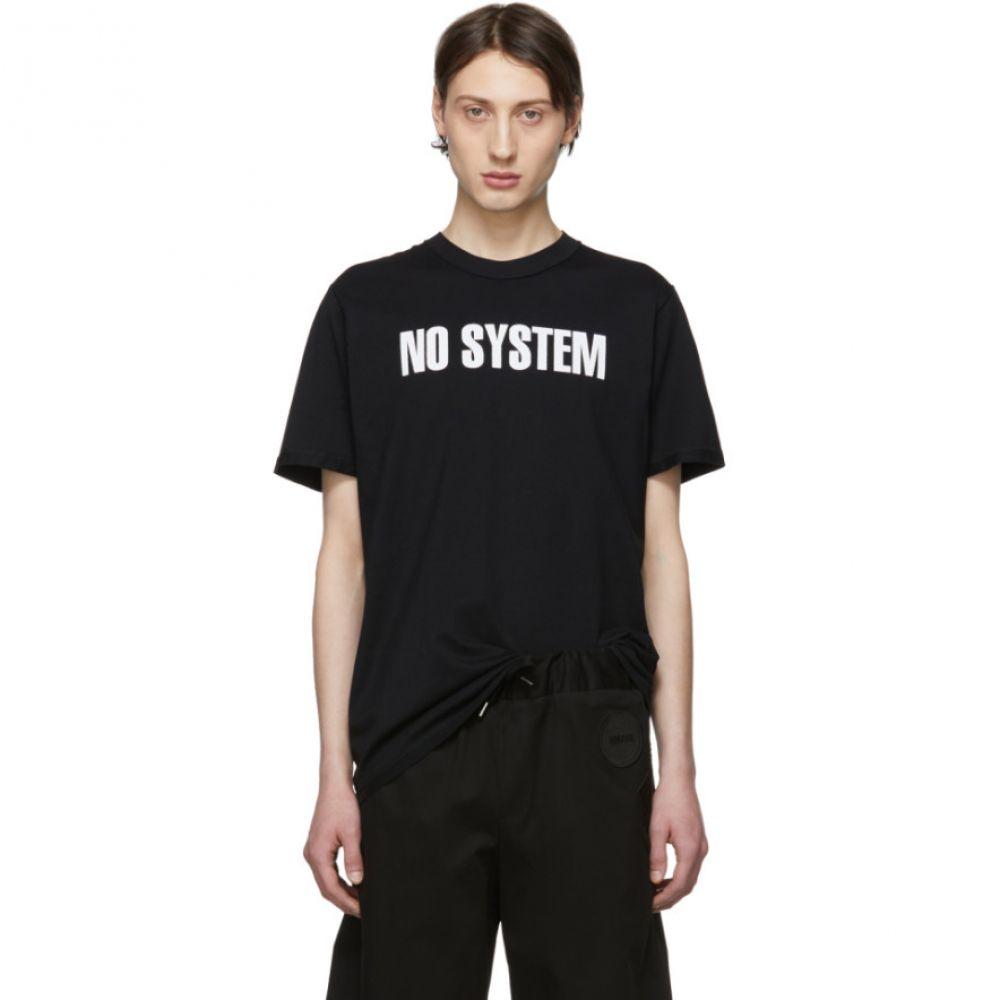 ヤンリ Yang Li メンズ トップス Tシャツ【Black 'No System' T-Shirt】